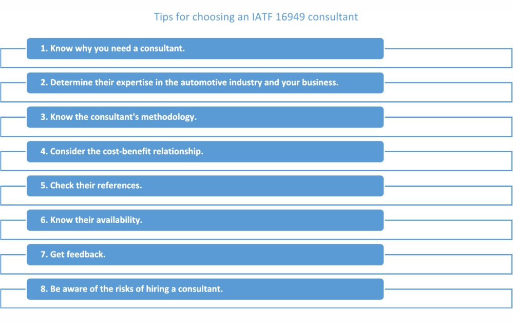 How to choose an IATF 16949 consultant: 8 expert tips