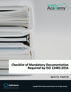 Checklist of Mandatory Documentation Required by ISO 13485:2016