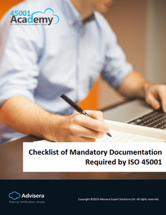 Checklist of Mandatory Documentation Required by ISO 45001