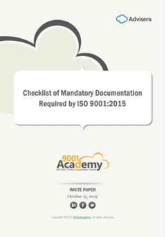 Checklist of Mandatory Documentation Required by ISO 9001:2015