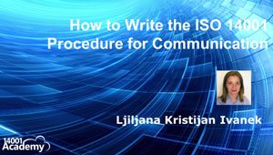 How to Write the ISO 14001 Procedure for Communication