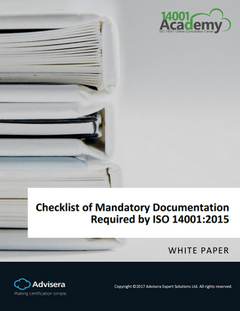 Checklist of Mandatory Documentation Required by ISO 14001:2015