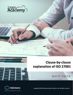 Clause-by-clause explanation of ISO 27001