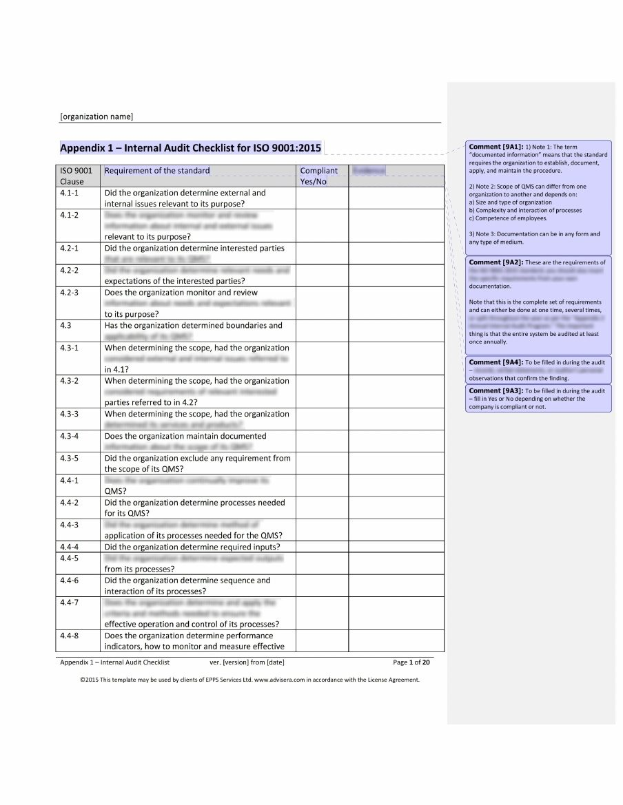 Iso 9001 audit checklist what it is how it s used and why for Iso 9001 templates free download