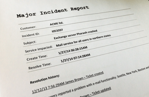 ITIL Major Incident Management – How to handle it