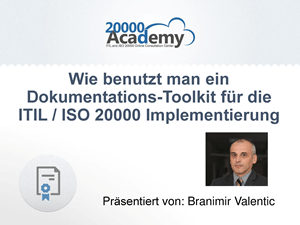 webinar wie benutzt man ein dokumentations toolkit f r die itil iso 20000 implementierung. Black Bedroom Furniture Sets. Home Design Ideas