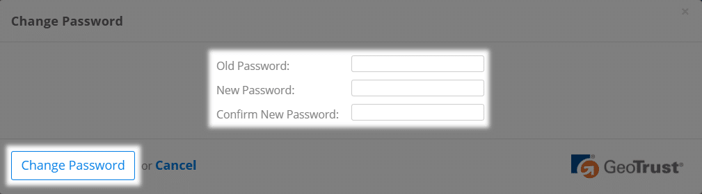Changing user password - Support Center
