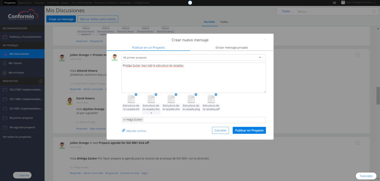 Adjuntando un archivo a un mensaje - Centro de soporte