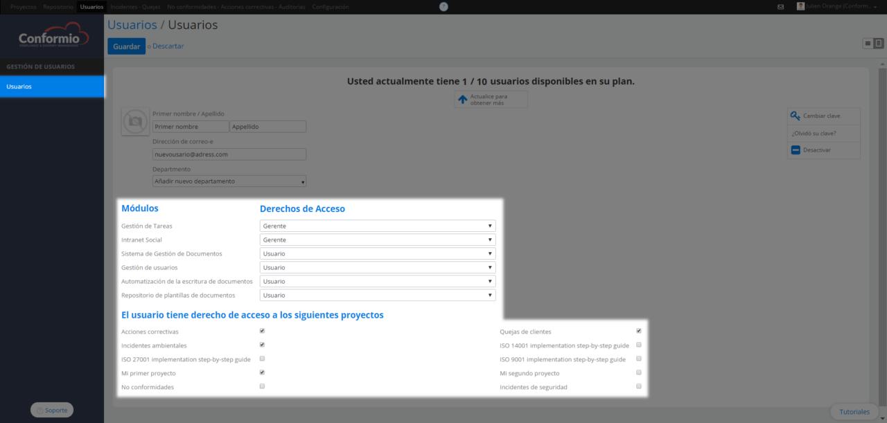 Añadir usuarios - Centro de soporte