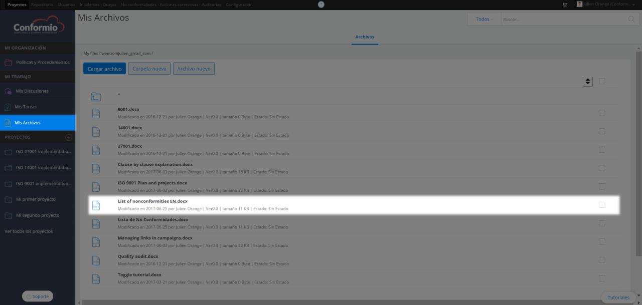 Subir archivos individuales a Mis Archivos Privados - Centro de soporte