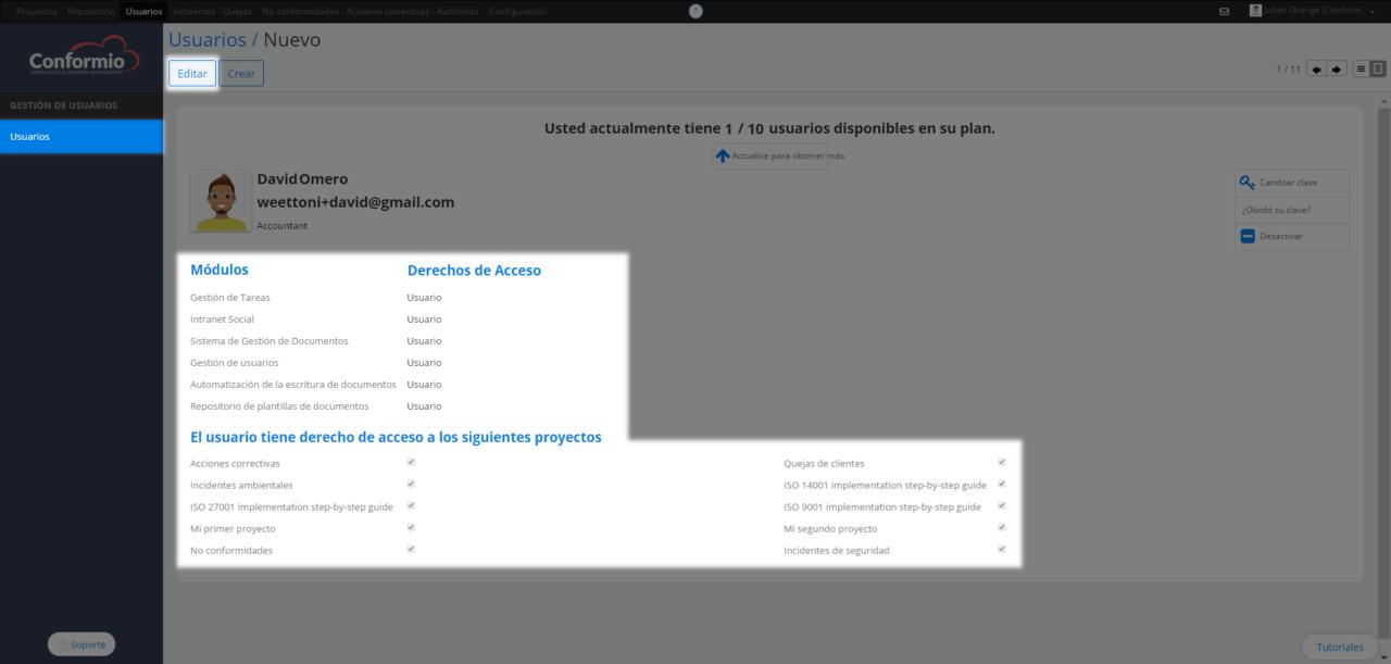 Gestionar acceso de usuarios - Centro de soporte