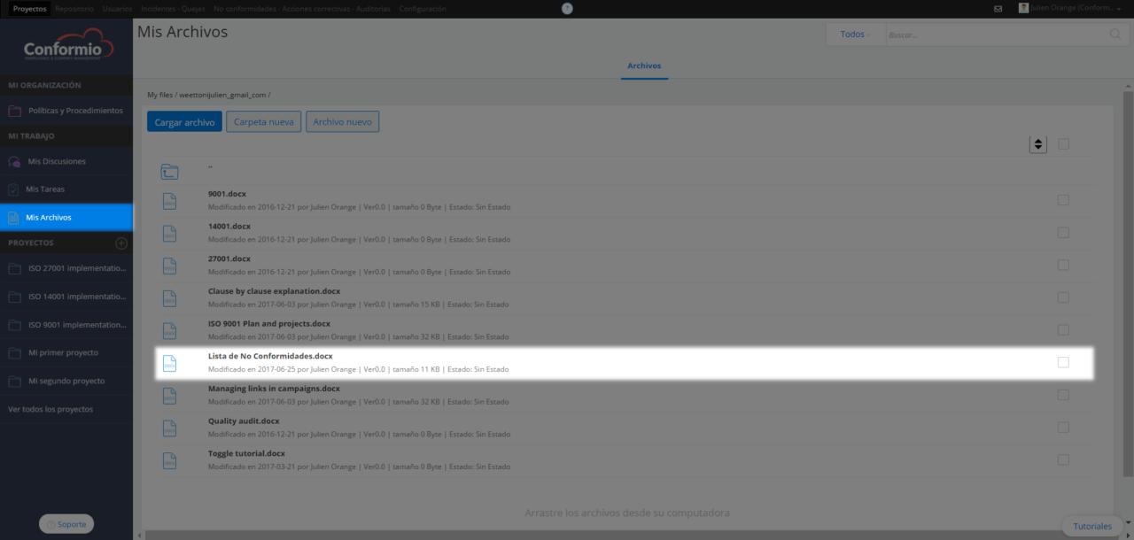 Crear un archivo nuevo - Centro de soporte