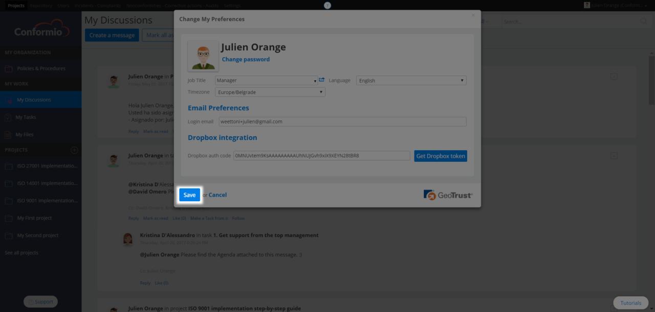 Adding user profile photo - Support Center