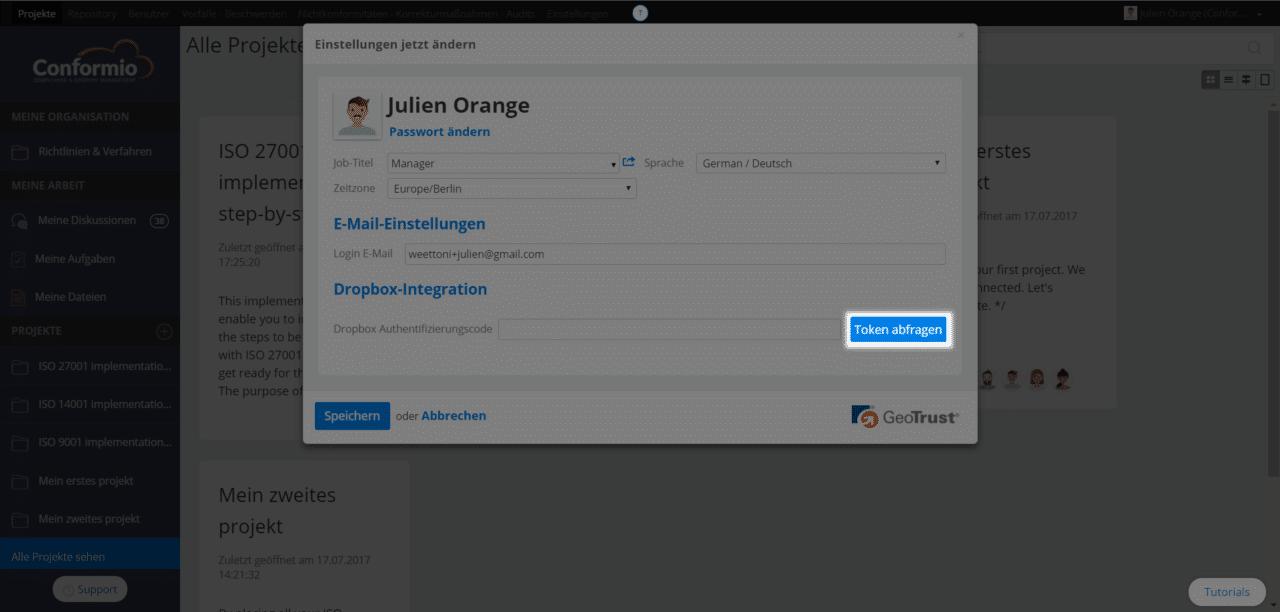 Ordner mit Dropbox synchronisieren - Kundenberatung