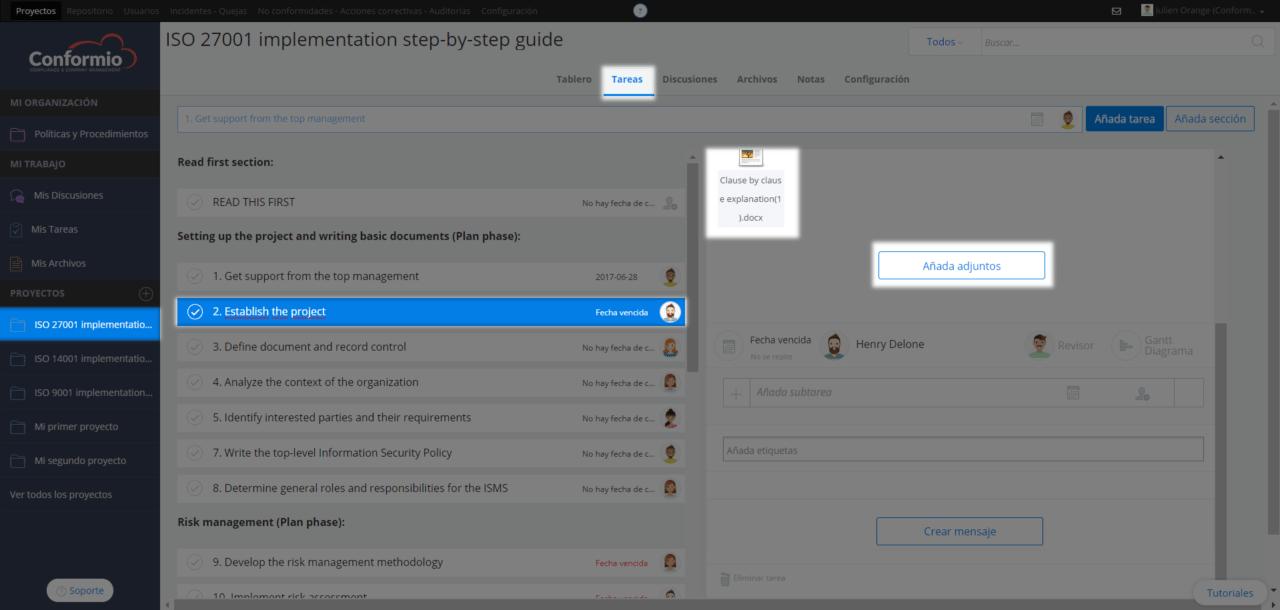 Añadir archivos adjuntos a las tareas - Centro de soporte