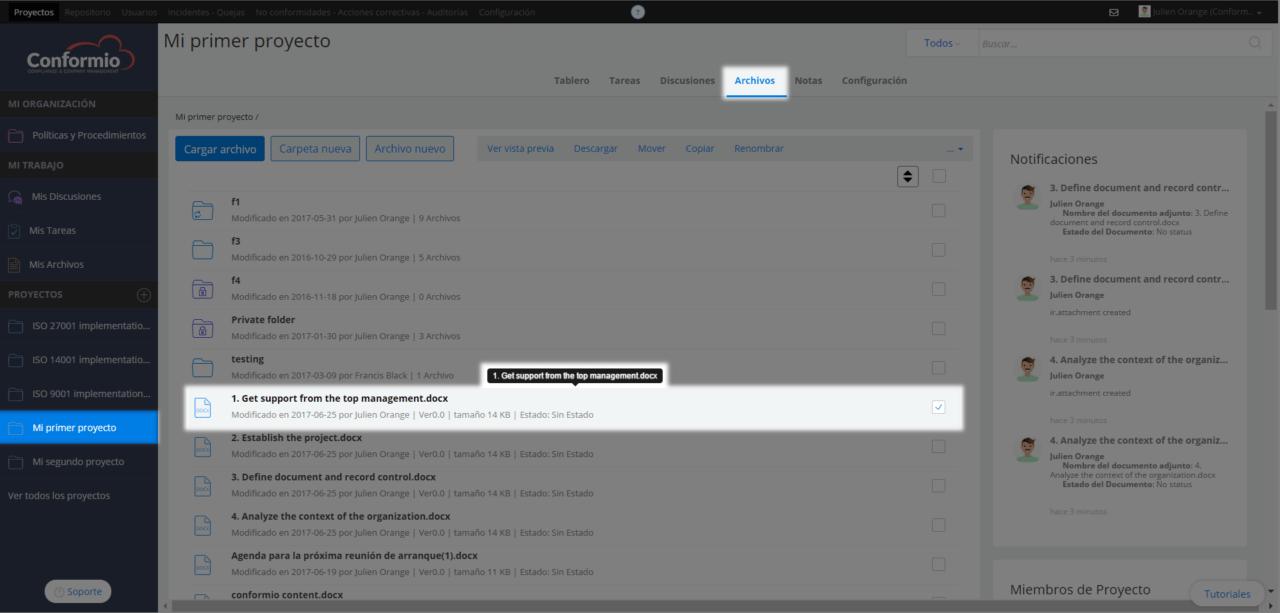 Establecer estado del documento - Centro de soporte