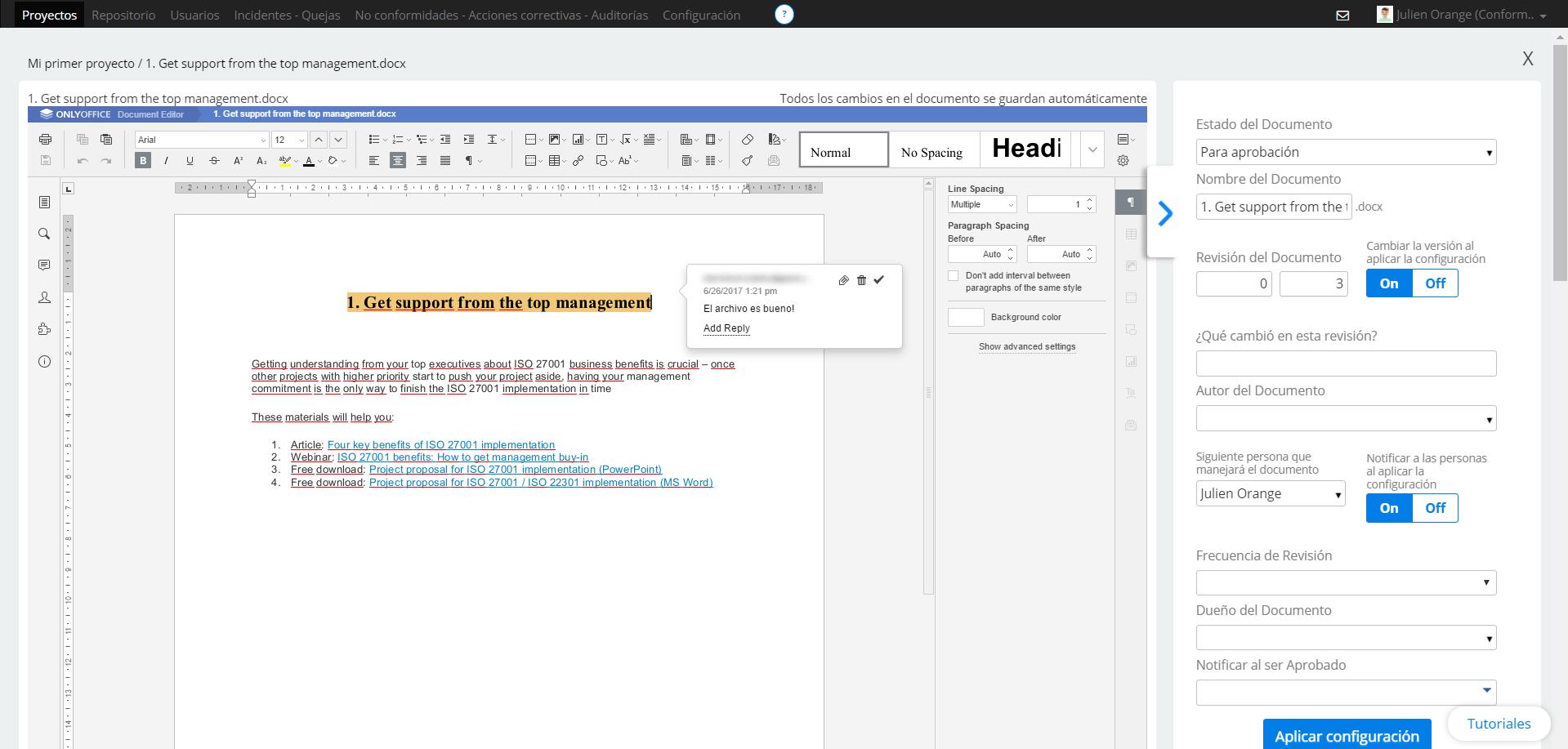 Editar archivos - Centro de soporte